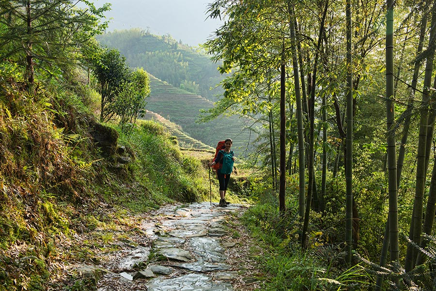 Trekking in Dazai Rice Terraces