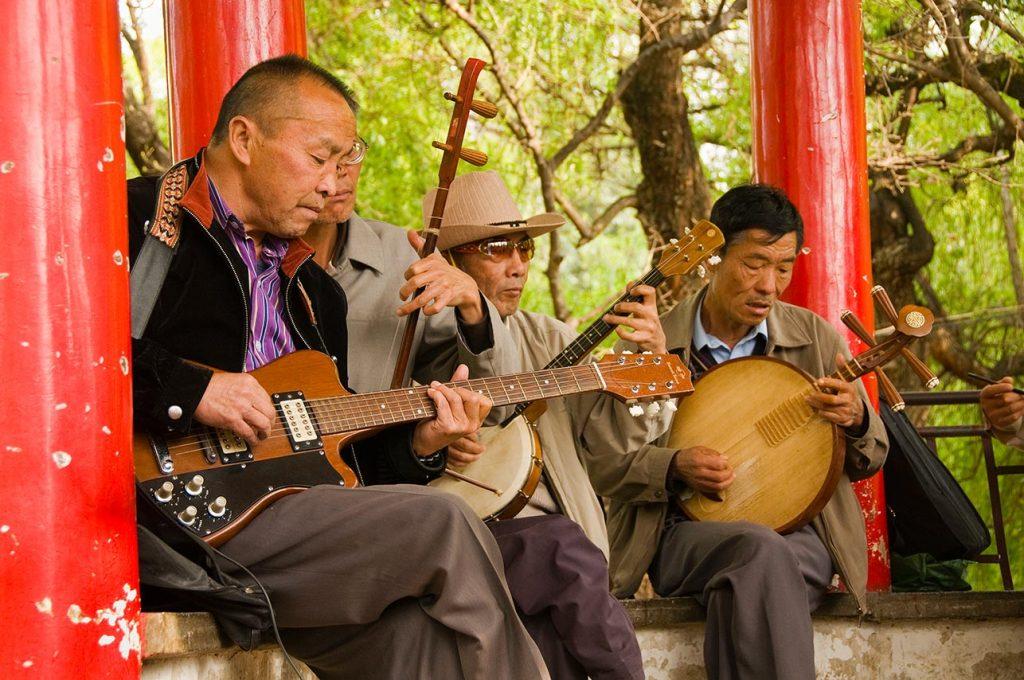 dancers performing in Green Lake Park in Kunming China