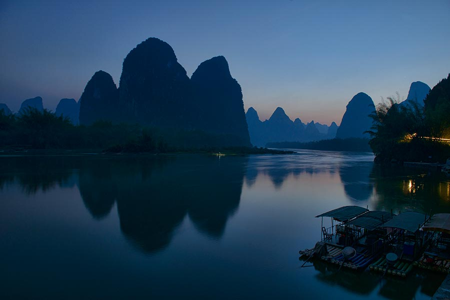 Xing Ping at Blue Hour
