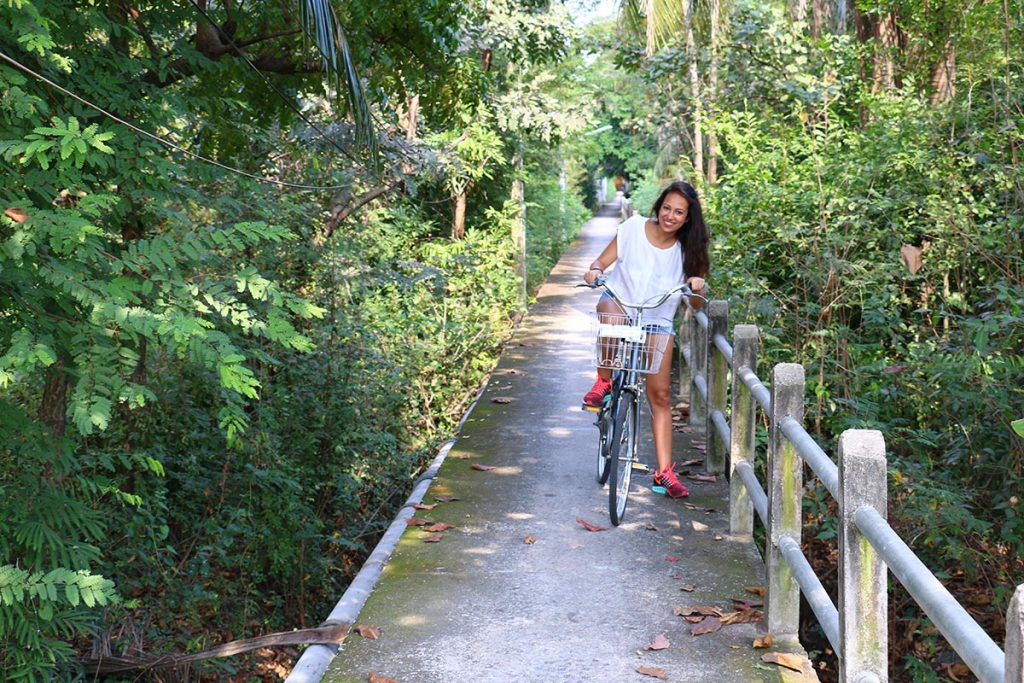 Cycling at Bang Krachao, Bangkok, Thailand