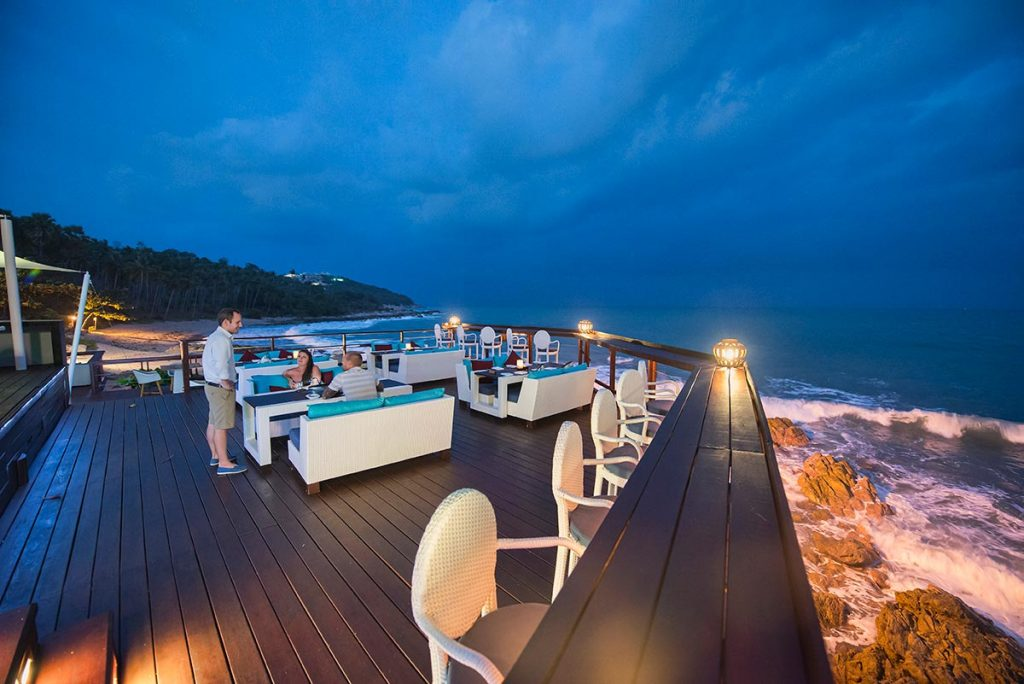 Romantic restaurant over the sea, Koh Samui, Thailand